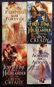 4 GWYN CREADY Steamy TIME TRAVEL Romance Books HIGHLANDER Aching for Always +