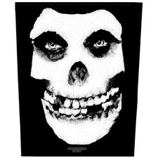 Printed Sew-on BACK PATCH 100% Official Licensed Merch Punk MISFITS Face Skull