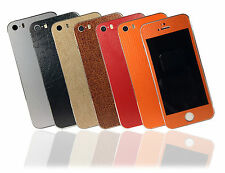 Leather Effect Skin For iPhone 5s Sticker Wrap Cover Decal Protector Case