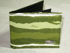 BNWOT BILLABONG  Synthetic Leather Trifold Coin Wallet  Army Green
