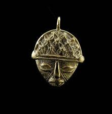 Pendentif Masque Ashanti tribal art africain  tribal figurine en laiton   C