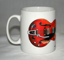 Guitar Mug. Stray Cats Brian Setzer's 6120 Chet Atkins guitar illustration.