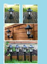 Solar Powered Rechargeable Garden Lighting Lantern Wall Lights Stake Table