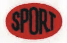 Red Oval Black Sport Embroidery Applique Patch