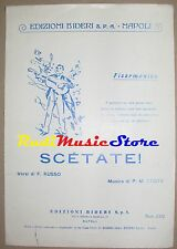 scetate RARO SPARTITO SINGOLO Russo Costa no cd lp dvd mc