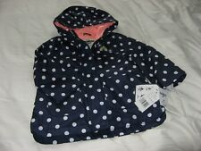 NEW CHILD'S NAVY SPOT OSHKOSH B'GOSH HOODED RAINCOST/JACKET FOR 2 YEAROLD BNWT