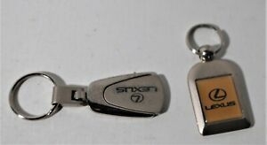 Two Vintage Metal LEXUS Car Key Rings, Lot #2