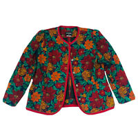 Stitches VINTAGE Retro Women's Floral Jacket Size 18