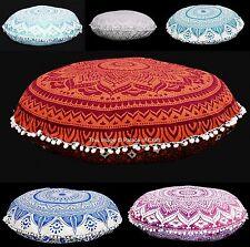 5 pc Lot Indian Floor Pillow Case Ombre Mandala Cushion Cover Cotton Wholesale
