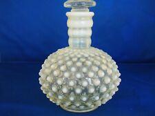 Vintage Original Fenton Hobnail Opalescent Milk Glass Perfume Bottle w/stopper