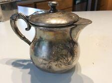 Vintage Adelphi Silverplate Quadraplate creamer / pitcher New York #60