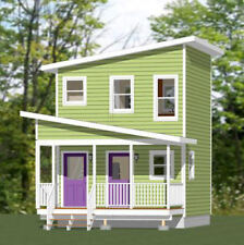 16x16 Tiny Duplex -- 441 sq ft -- PDF Floor Plan -- Model 2J