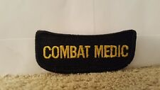 """Tab Black Patch """"Combat Medic"""" 3 1/4 x 1 1/4 inches"""