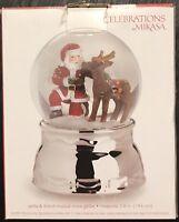Mikasa Celebrations Musical Snow Globe  Santa & Friend (5134292)