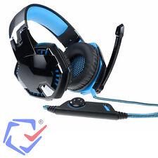 Kopfhörer Gaming USB Headset 7.1 für PC Computer mit Mikrofon Blau Schwarz