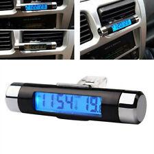 Mini LCD Light Digital Clock Thermometer Temperature Temp Clip Interio_QA