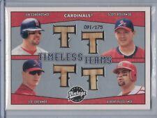 Pujols/Edmonds/Rolen/Drew 2004 Upper Deck Vintage Timeless Teams Quad Bats D5750