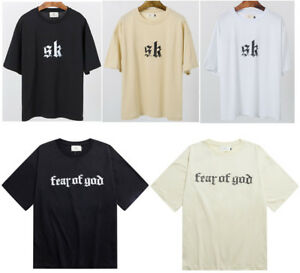Fear Of God T-shirt SK Men's Womens Tshirt Round Neck Shirt Sweatshirt Top Tee