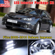 14 PCS Super White LED Lights Interior Package Kit for 2002-2013 Subaru Impreza