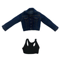 1/6 Scale Jeans Jacket Coat & Crop Top for 12inch Kumik TTL Enterbay Toy