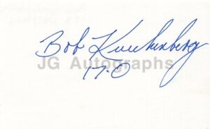 Bob Kuechenberg - NFL Football, Miami Dolphins - Signed 3x5 Card