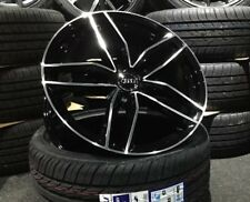 """19"""" Audi RS6 Style Gloss Black alloy wheels & 255/35/19 tyres A4/A5/A6"""