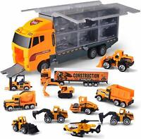 11in1 Truck Vehicle Car Toy Play Vehicles in Carrier Construction Set UK STOCK