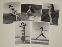 NOS Diane Webber Set of 5 Pin-Up Lithographs 1 Hand Signed by Bunny Yeager