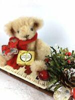 Miniature Christmas Sled Bear OOAK Tiny Teddies by Elke  ID4435
