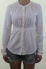 LEVIS ladies white fitted textured cotton blouse top size XS fits UK 8 euro 36