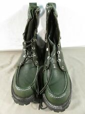 Vintage 1960s Red Wing Irish Super Setter Green Kangaroo Leather Boots #888