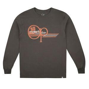 Ocean Pacific - Men's - Palm Lines - L/S T-shirt - Charcoal