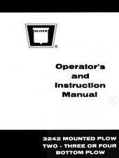 Oliver 3242 Plow 2 3 or 4 Bottom Plow Operators Manual