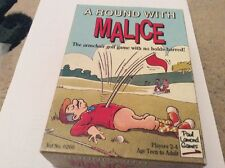 Vintage Game Armchair Golf Trivia With A Tiddlywinks Twist, 'Malice'