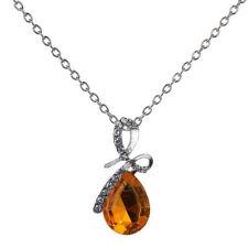 Rhinestone Amber Costume Necklaces & Pendants