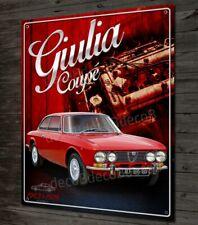 Plaque métal oeuvre d'art Alfa Romeo Giulia coupé Bertone 40x30cm