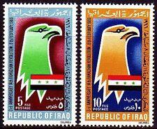 Iraq Irak 1966 ** mi.441/42 ramadán revolución Águila Eagle bandera Flag