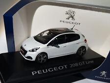 1 43 Norev Peugeot 208 GT Line Mie-vie 5p 2015 Whitemetallic