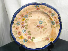 VINTAGE ART POTTERY HANDPAINTED DISPLAY PLATE SIGNED PAUITTINI XEIPICA (GREEK?)