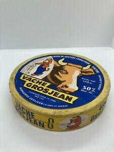 Boîte de fromage ancienne Publicite vache Grosjean 1968