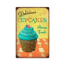 Delicious cupcakes Always Fresh cupcake publicidad retro sign chapa escudo Escudo