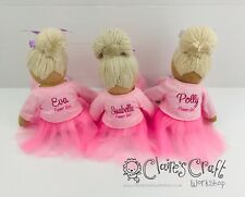 Personalised Powell Craft Ballerina Rag Doll - Fabric Doll, Child's Gift