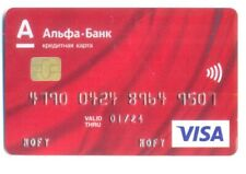 Credit card VISA issued by ALFA-BANK  Russia