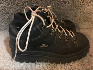 VTG Skechers Jammers Platform Chunky Tough Shoes Size 7 Ankle Black Boots (flaw)