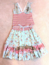 Muchacha Women's 2 Pc Peasant Shabby Chic Floral Skirt & Top Sz S/M