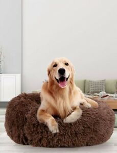 70cm-Pet-Best Friend Bed Luxury Comfortable Indor-All Breeds, Anti Anxiety-Grey