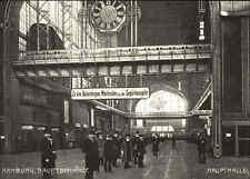 HAMBURG Hauptbahnhof Haupthalle Bahnhof Reprint-Ansicht aus ca. 90er Jahren