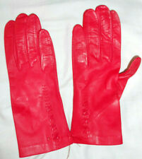 Vintage Ladies Driving Gloves Red Leather Never Worn.Small
