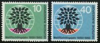 Germany 1960 MNH Mi 326-327 Sc 807-808 World Refugee Year.Uprooted Oak.Trees.**
