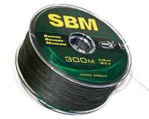 KATRAN SINKING BRAIDED MAINLINE SBM 28lb, 0.28mm. 300m SPOOLS, SPOD / MARKER